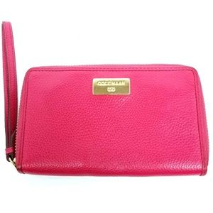 Cole Haan Pink Genuine Leather Wallet Wrislet